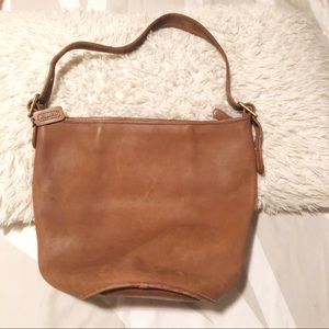 COACH 333-5526 aged cognac leather large hobo!